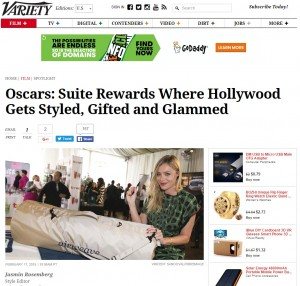 MS coordinated & booked press for the Studio 3 Hollywood Salve Naturals 2015 Oscar Retreat at the Crescent Hotel in Beverly Hills as seen in Variety.