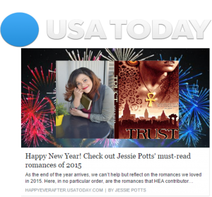 MS Client Jodi Baker & her debut YA novel Trust make USA Today's Best of 2015 on Jan 1, 2016