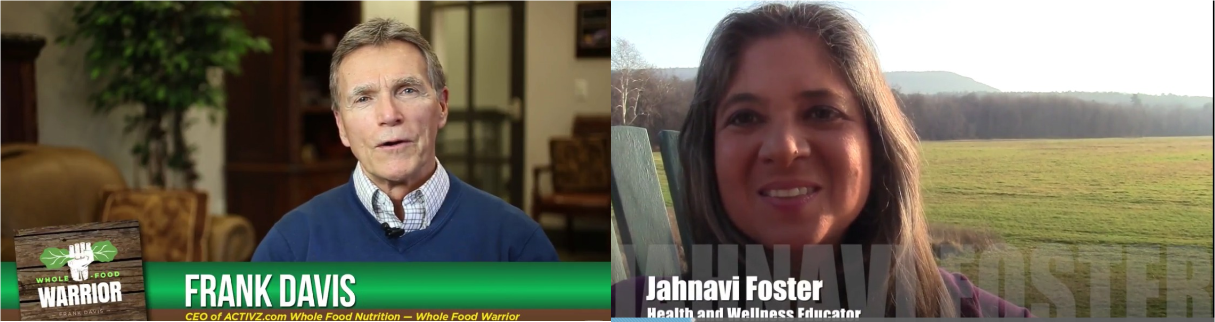 Frank Davis Presents Whole Food Warrior Jahnavi Foster on the Really Cool Humans TV Network
