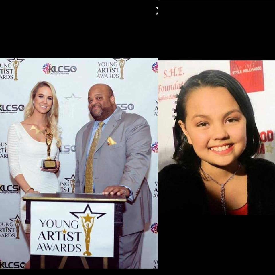 Breaking: Chalet Brannan 2x nominee and presenter at the 34th annual Young artist awards